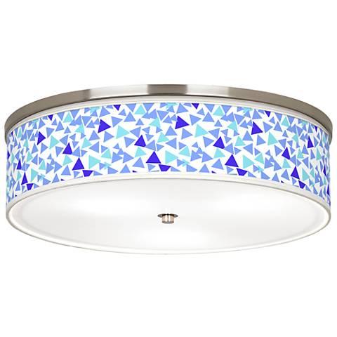 "Geo Confetti Giclee Nickel 20 1/4"" Wide Ceiling Light"