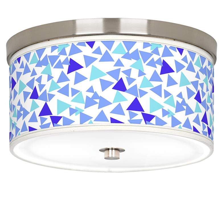"Geo Confetti Giclee Nickel 10 1/4"" Wide Ceiling Light"