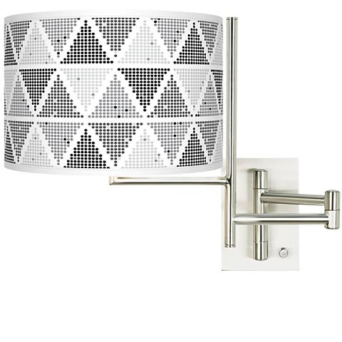 Tempo Pointillism Plug-in Swing Arm Wall Lamp