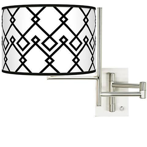 Tempo Diamond Chain Plug-in Swing Arm Wall Lamp