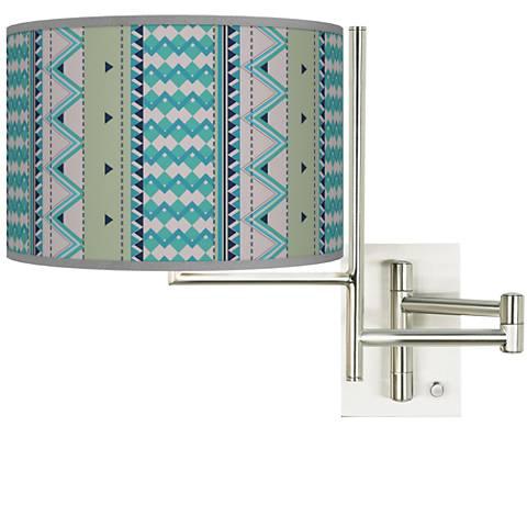 Tempo Geo Metrix Plug-in Swing Arm Wall Lamp