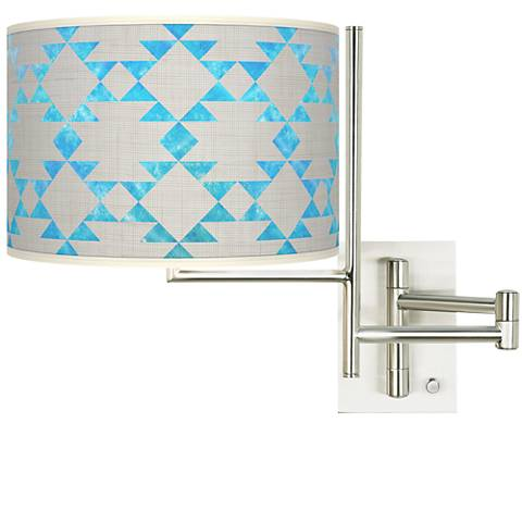 Tempo Desert Aquatic Plug-in Swing Arm Wall Lamp