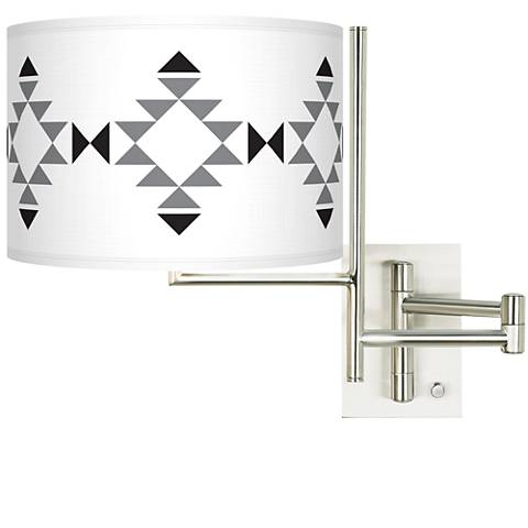 Tempo Desert Grayscale Plug-in Swing Arm Wall Lamp