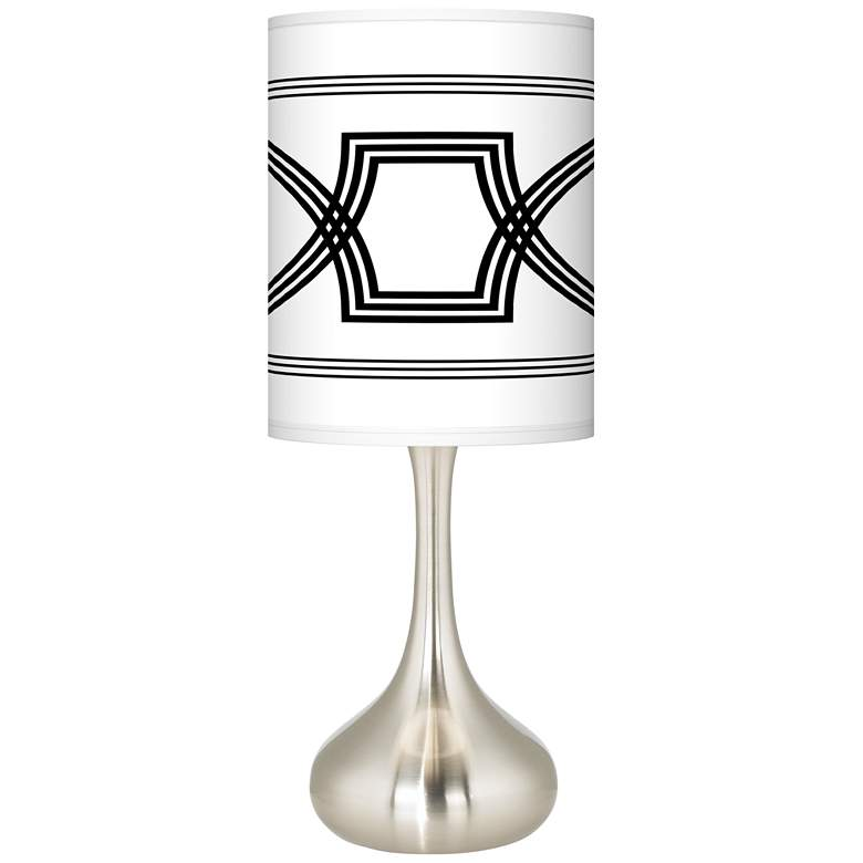 Concave Giclee Droplet Table Lamp