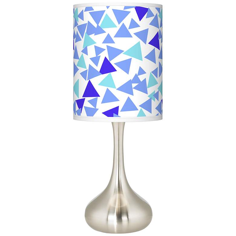 Geo Confetti Giclee Droplet Table Lamp