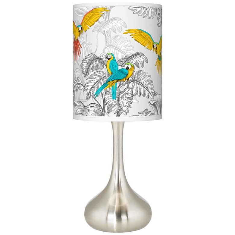 Macaw Jungle Giclee Droplet Table Lamp