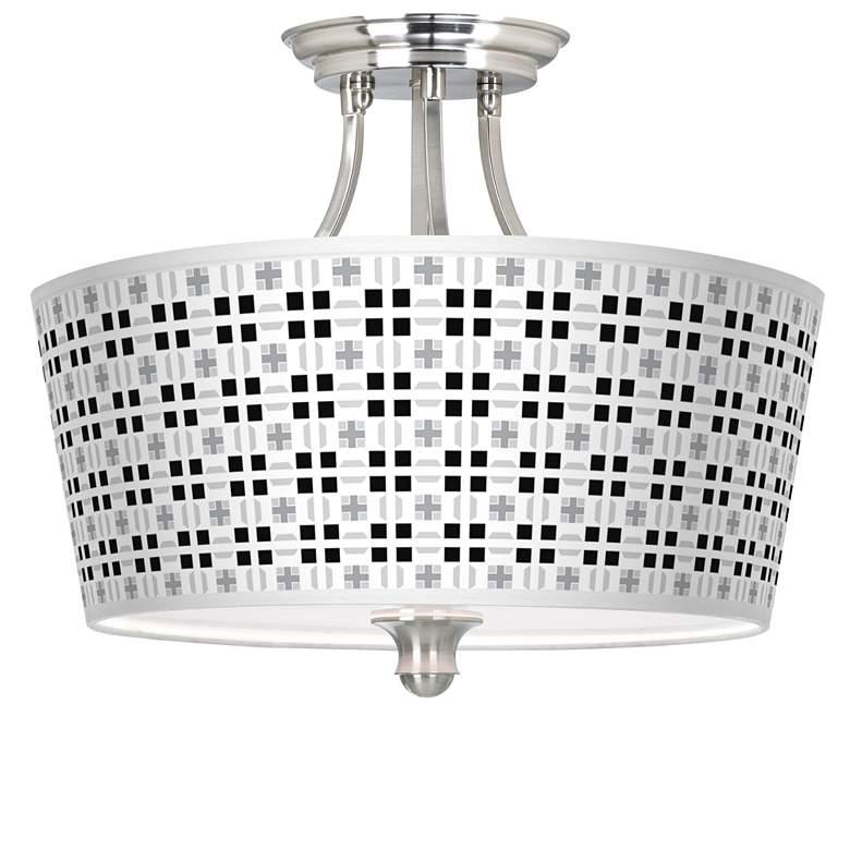 Quadrant Tapered Drum Giclee Ceiling Light