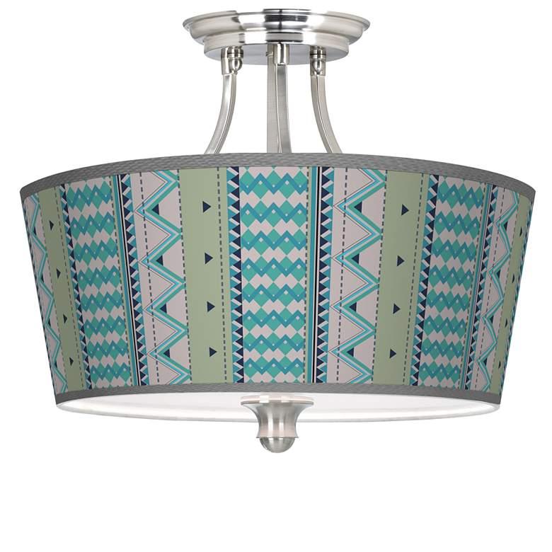 Geo Metrix Tapered Drum Giclee Ceiling Light
