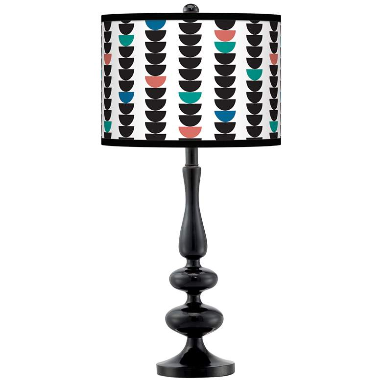 Semi-Dots Giclee Paley Black Table Lamp