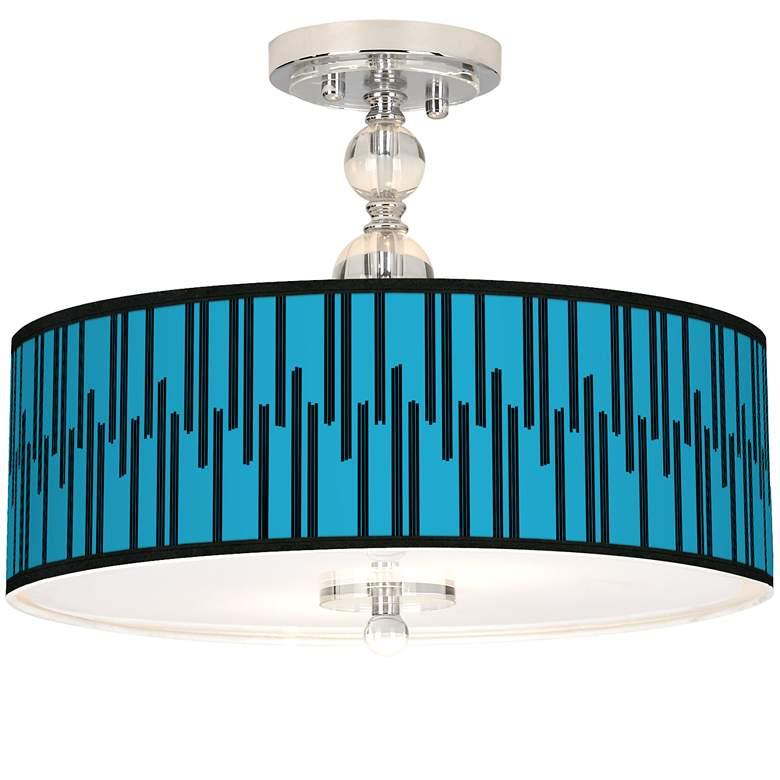 "Segments Giclee 16"" Wide Semi-Flush Ceiling Light"