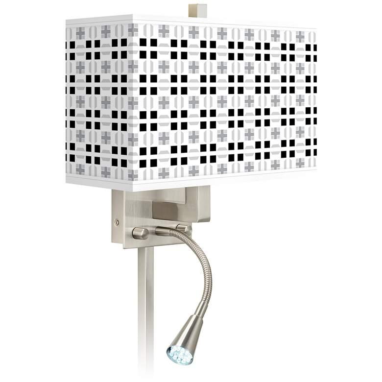 Quadrant Giclee Glow LED Reading Light Plug-In Sconce