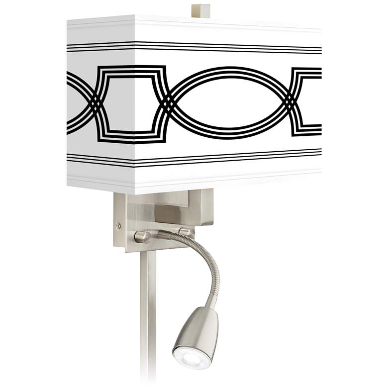 Concave Giclee Glow LED Reading Light Plug-In Sconce