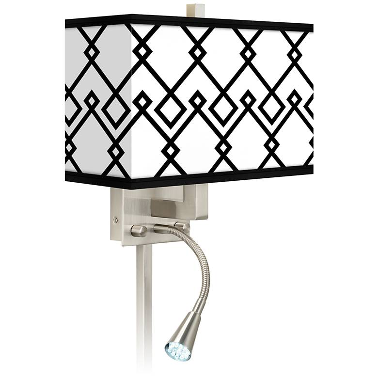 Diamond Chain Giclee Glow LED Reading Light Plug-In Sconce