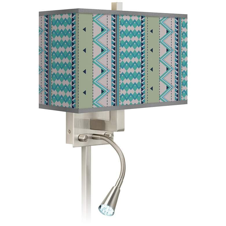 Geo Metrix Giclee Glow LED Reading Light Plug-In Sconce