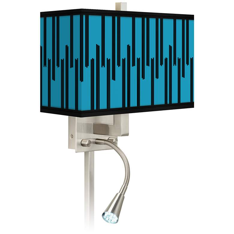 Segments Giclee Glow LED Reading Light Plug-In Sconce