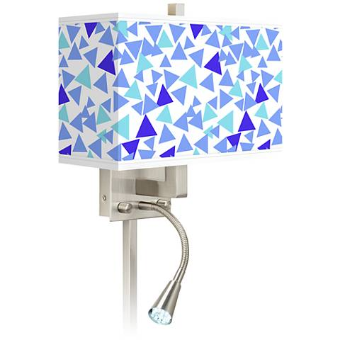 Geo Confetti Giclee Glow LED Reading Light Plug-In Sconce