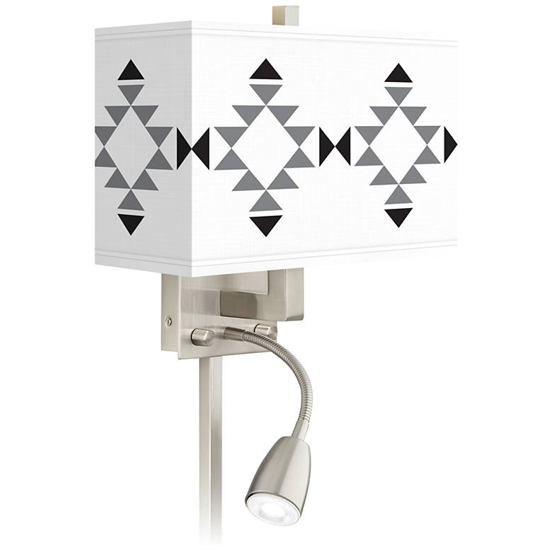 Desert Grayscale Giclee Glow LED Reading Light Plug-In Sconce