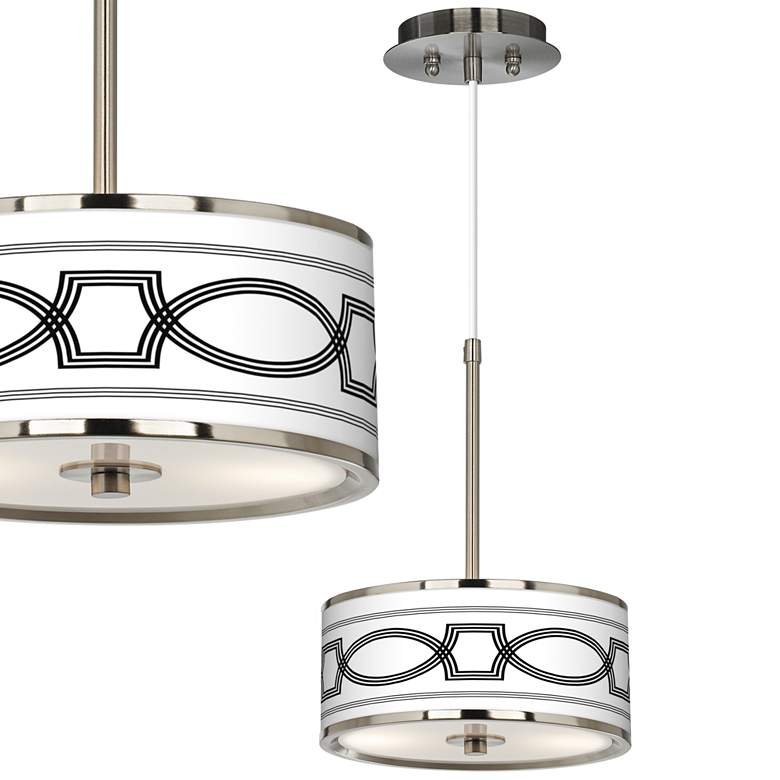 """Concave Giclee Glow 10 1/4"""" Wide Pendant Light"""
