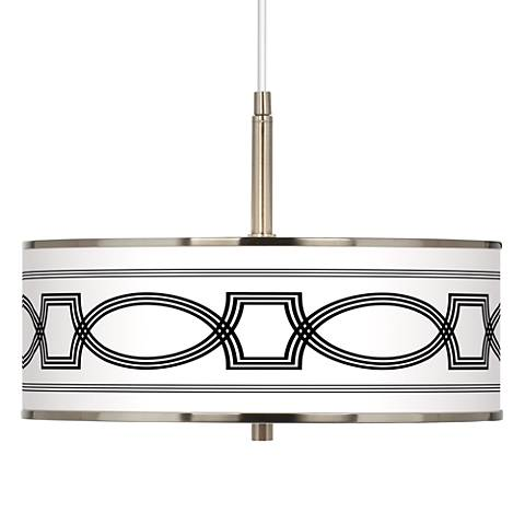 """Concave Giclee Glow 16"""" Wide Pendant Light"""