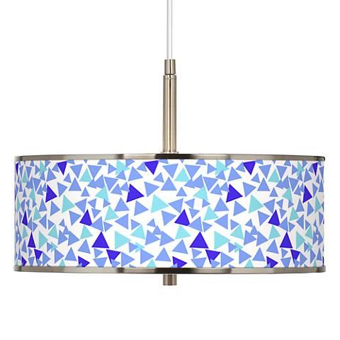 "Geo Confetti Giclee Glow 16"" Wide Pendant Light"