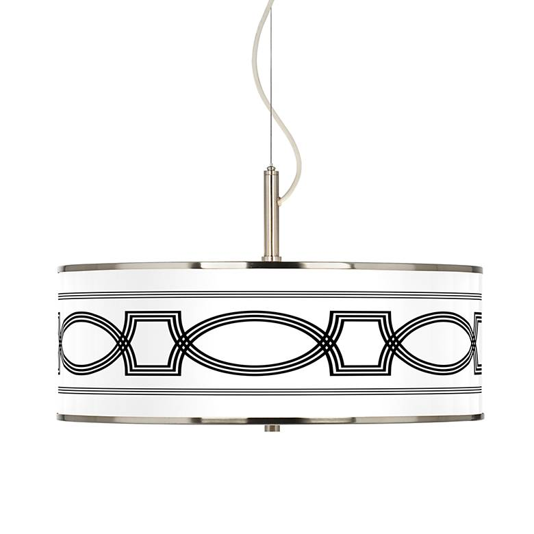 """Concave Giclee Glow 20"""" Wide Pendant Light"""