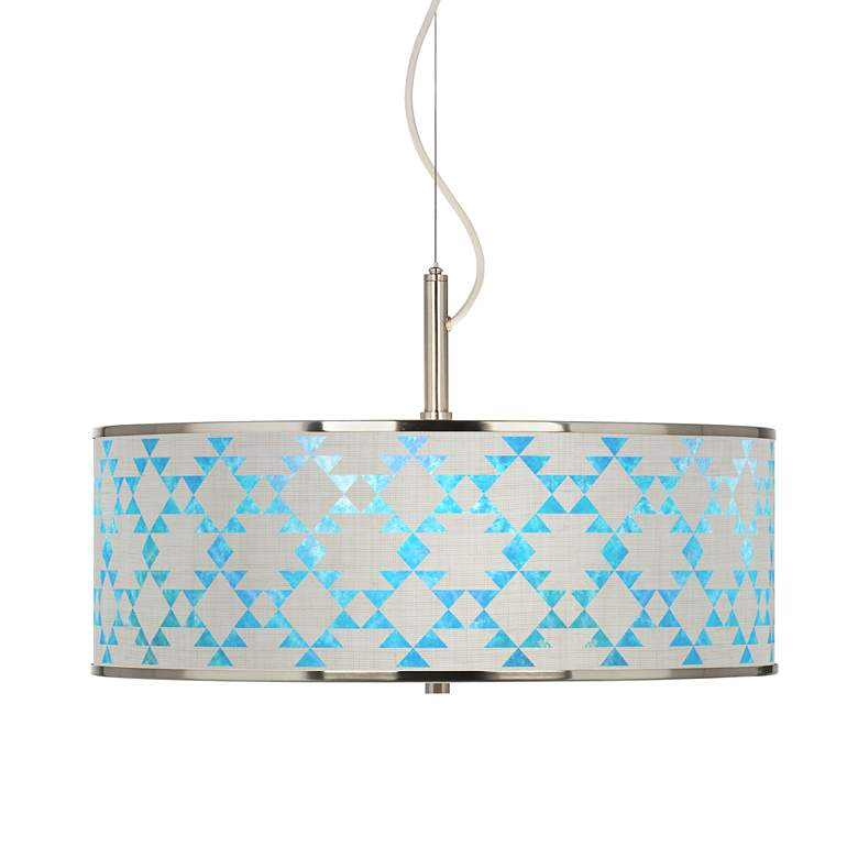 "Desert Aquatic Giclee Glow 20"" Wide Pendant Light"