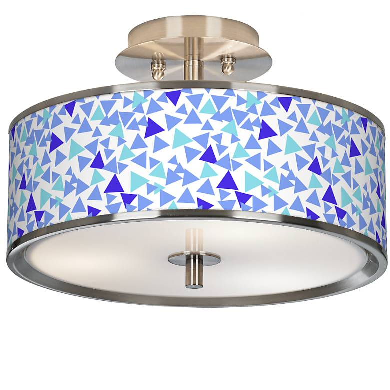 "Geo Confetti Giclee Glow 14"" Wide Ceiling Light"
