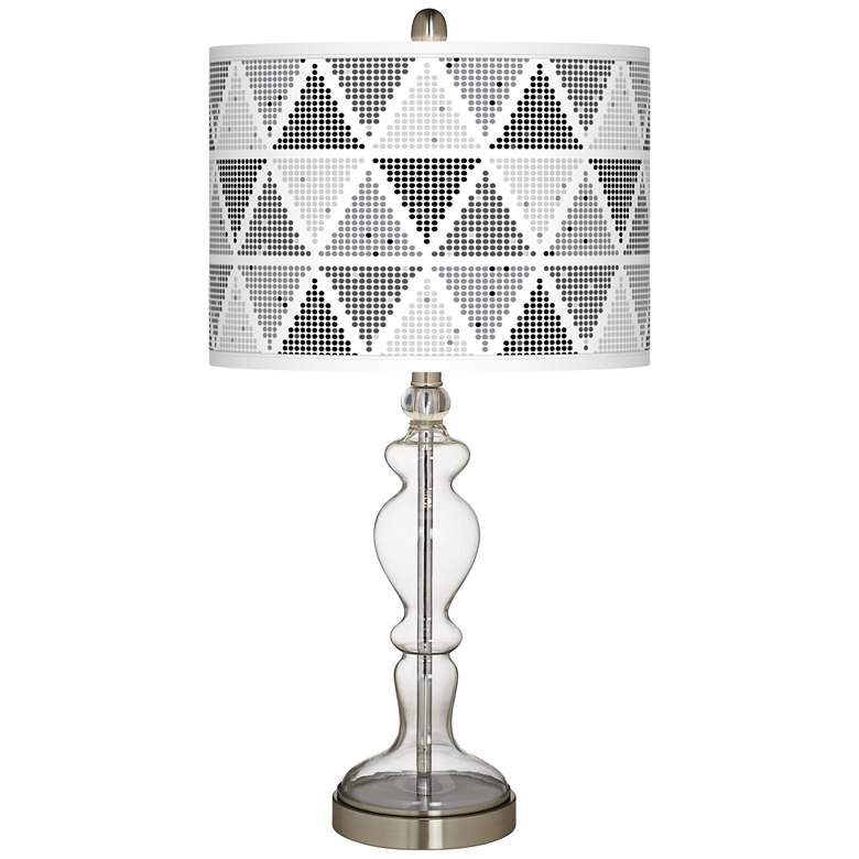 Pointillism Giclee Apothecary Clear Glass Table Lamp