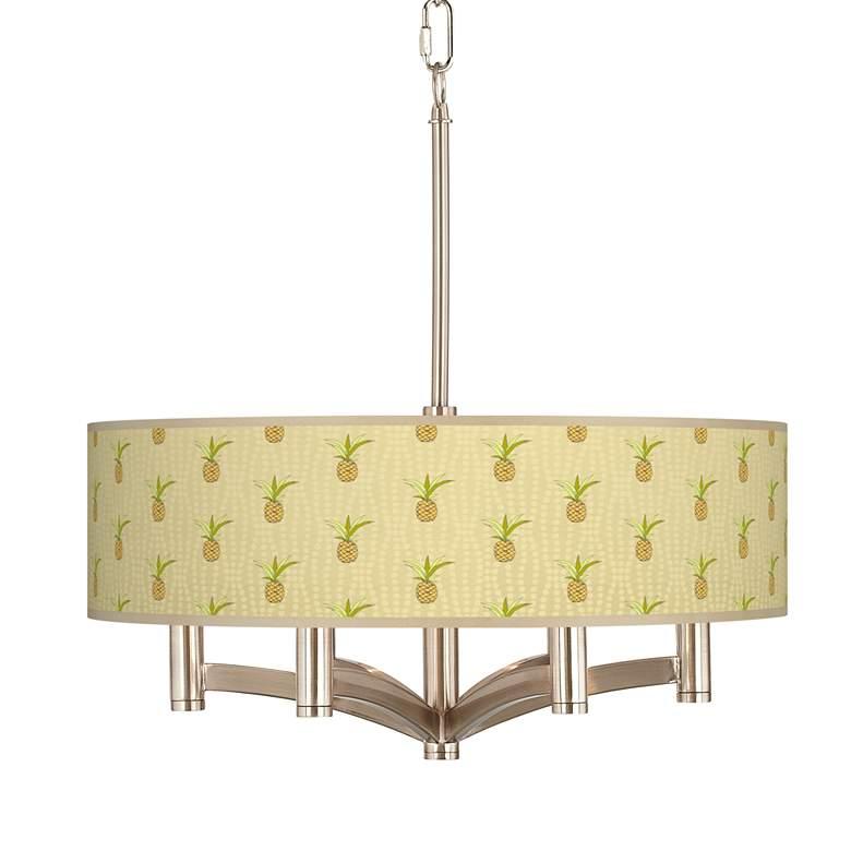 Pineapple Delight Ava 6-Light Nickel Pendant Chandelier