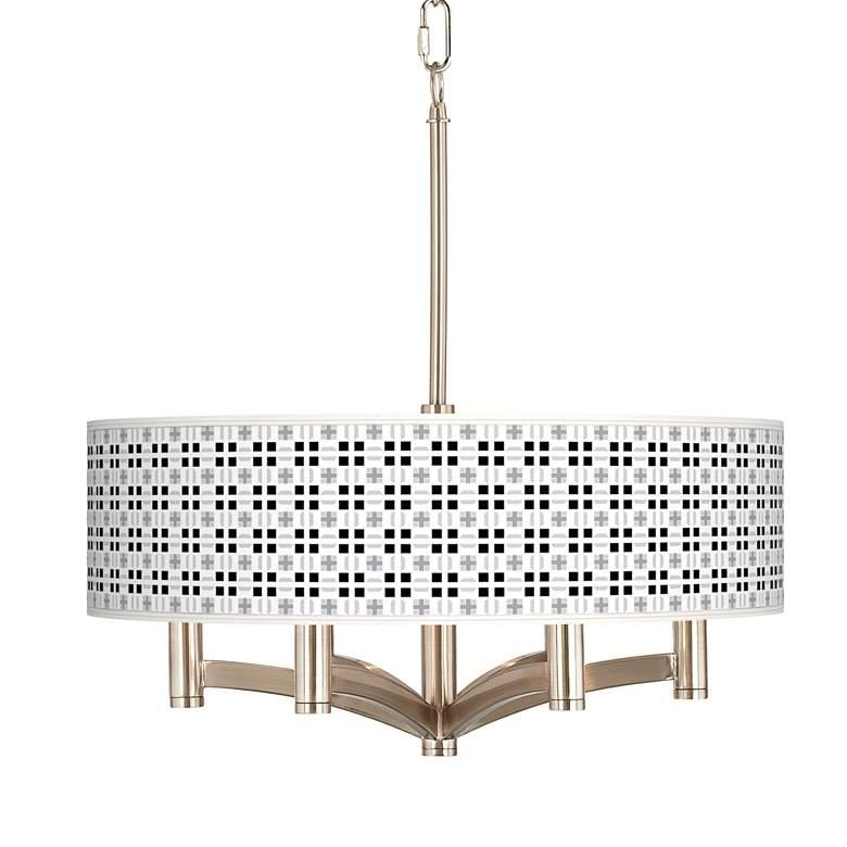 Quadrant Ava 6-Light Nickel Pendant Chandelier