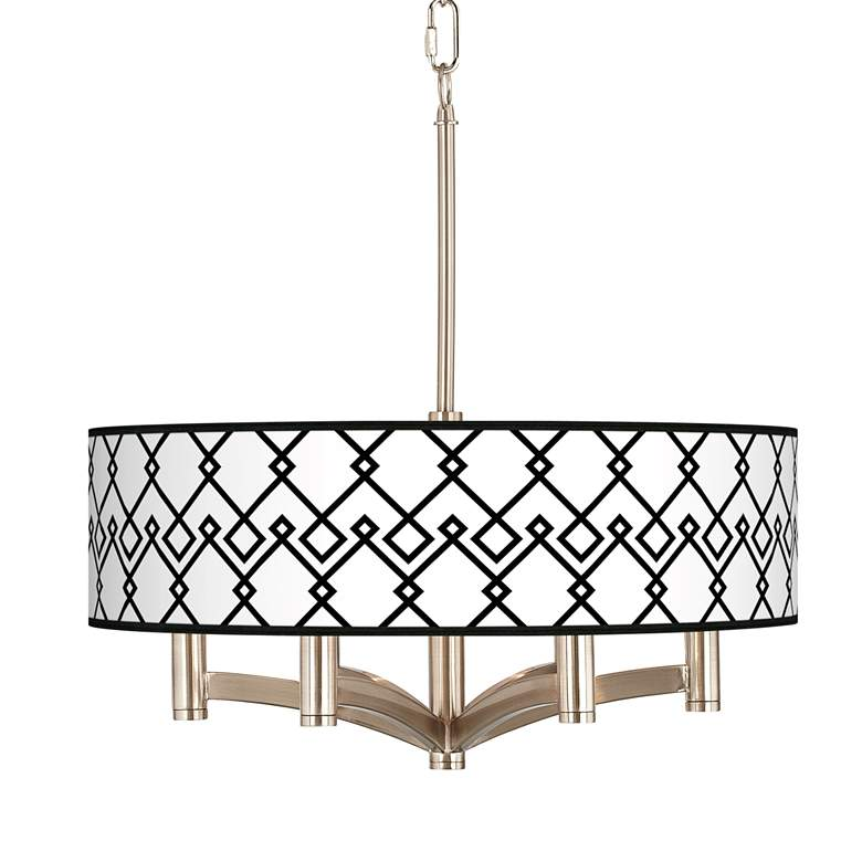 Diamond Chain Ava 6-Light Nickel Pendant Chandelier