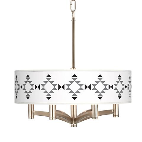 Desert Grayscale Ava 6-Light Nickel Pendant Chandelier