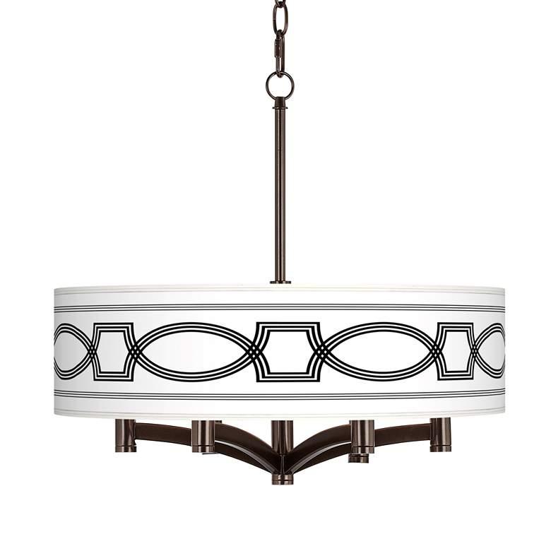 Concave Ava 6-Light Bronze Pendant Chandelier