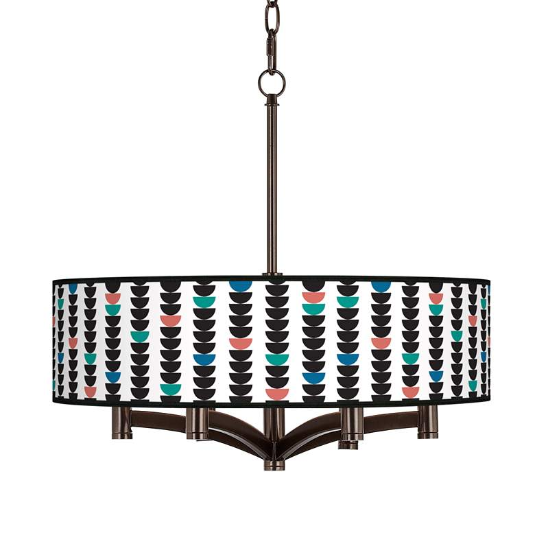 Semi-Dots Ava 6-Light Bronze Pendant Chandelier