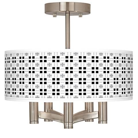Quadrant Ava 5-Light Nickel Ceiling Light