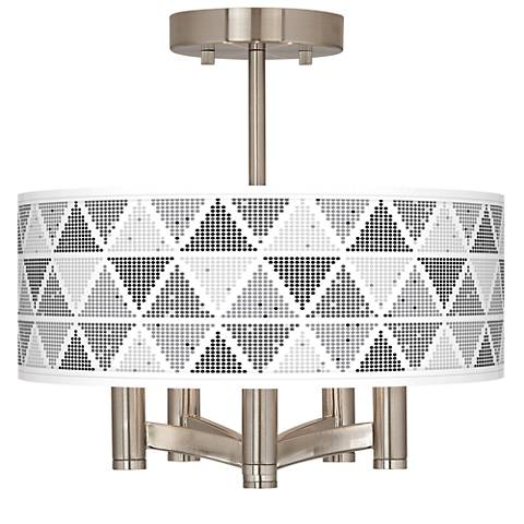 Pointillism Ava 5-Light Nickel Ceiling Light