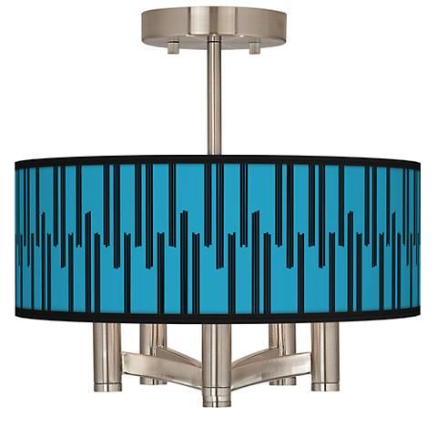 Segments Ava 5-Light Nickel Ceiling Light
