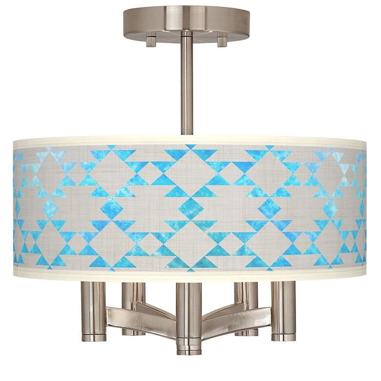 Desert Aquatic Ava 5-Light Nickel Ceiling Light
