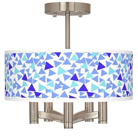 Geo Confetti Ava 5-Light Nickel Ceiling Light
