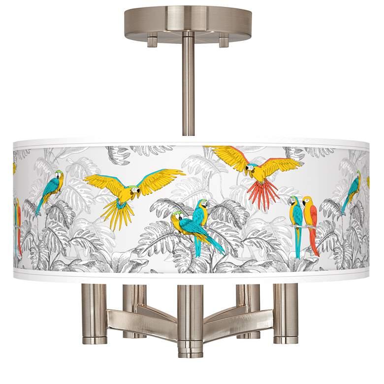 Macaw Jungle Ava 5-Light Nickel Ceiling Light