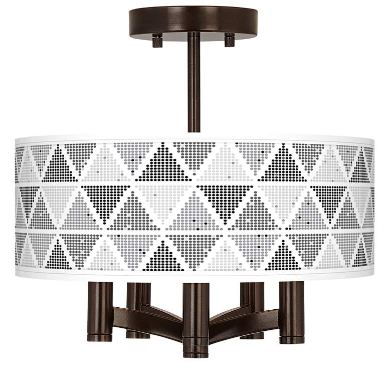 Pointillism Ava 5-Light Bronze Ceiling Light