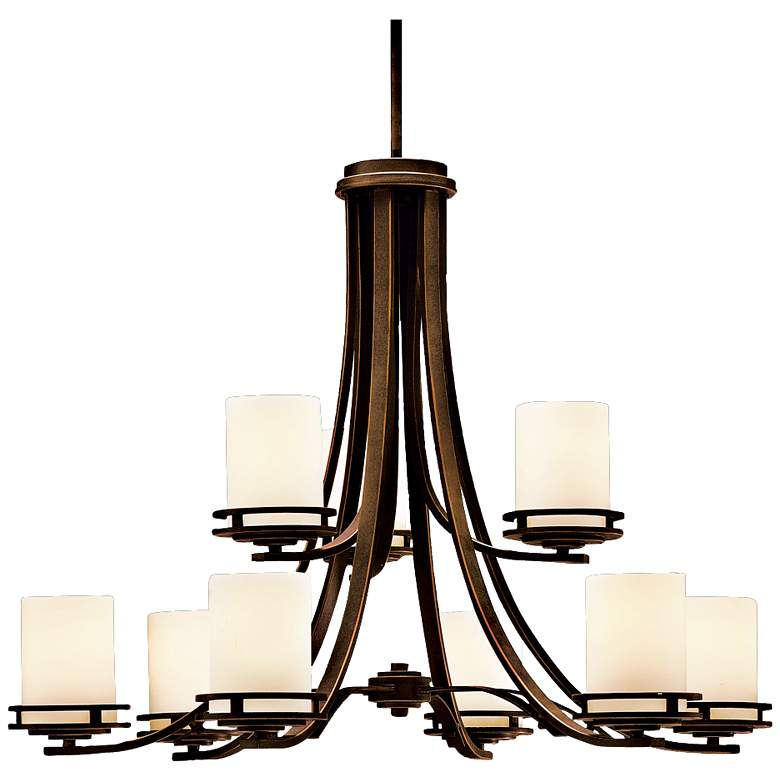 "Hendrik Bronze 32 1/2"" Wide 9-Light Chandelier"