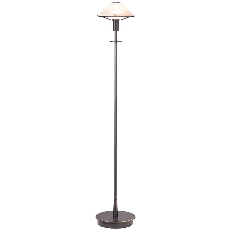 Holtkoetter Old Bronze Alabaster Brown Floor Lamp