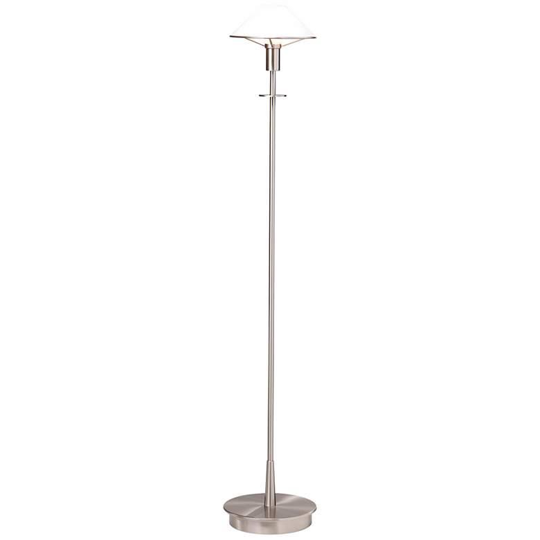 Holtkoetter Satin Nickel True White Glass Modern Floor Lamp