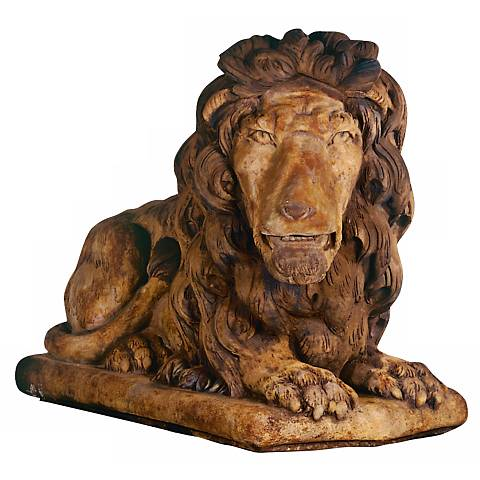 "Henri Studio Grand Lion Facing Right 39""W Garden Sculpture"