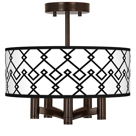 Diamond Chain Ava 5-Light Bronze Ceiling Light