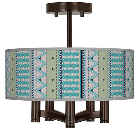 Geo Metrix Ava 5-Light Bronze Ceiling Light