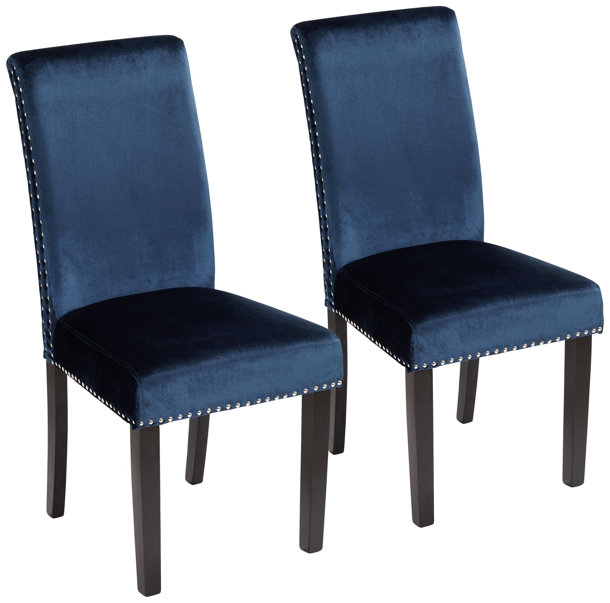 Merveilleux Scarpa Blue Armless Dining Chairs Set Of 2