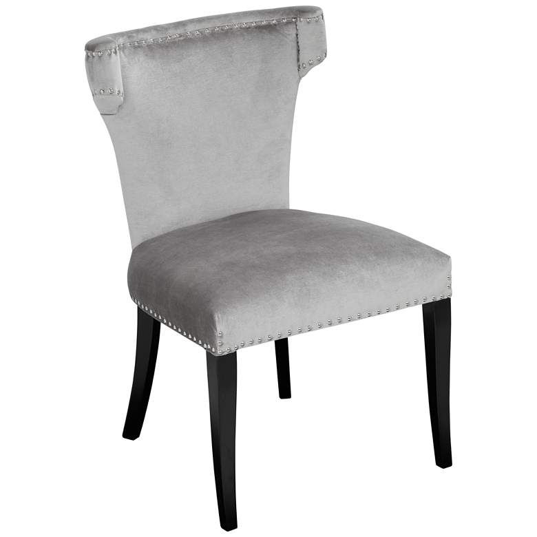 Brooklyn Gray Velvet Armless Dining Chair