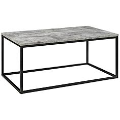 Adeline Faux Gray Concrete Top and Metal Coffee Table